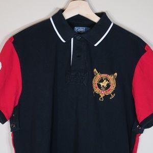 Solid Black Short-Sleeve Polo Shirt